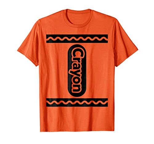 ORANGE CRAYON shirt Crayon Costume Halloween t-shirt