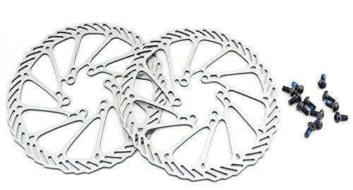 HemeraPhit 2pcs Mountain Bike Rotors G3 Bicycle Brake Disc Stainless Steel Rotors with Free 12 Bolts (160MM) Bike Disc Brake Rotor