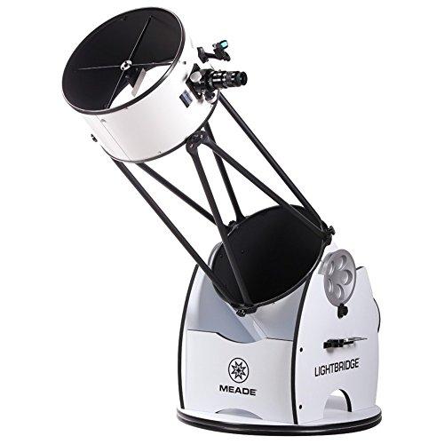 Meade Instruments LightBridge 16-Inch Truss Tube Dobsonian Telescope, Open Truss - Black (1645-05-03)