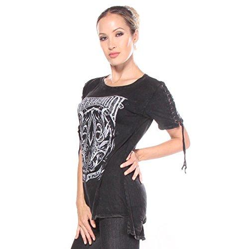 Mujeres Affliction Frame Camisetas A M nazqH