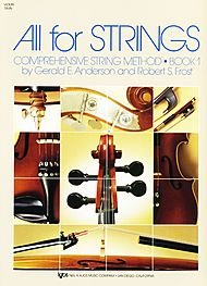 All for Strings - Book 1 (Violin). (Comprehensive String Method). Orchestra. For Violin. Method Book. All for Strings. Learn to Play. Elementary. Instructional Book. Instructional Text, Instructional Photos, Standard Notation, Bowing and Fingerings.