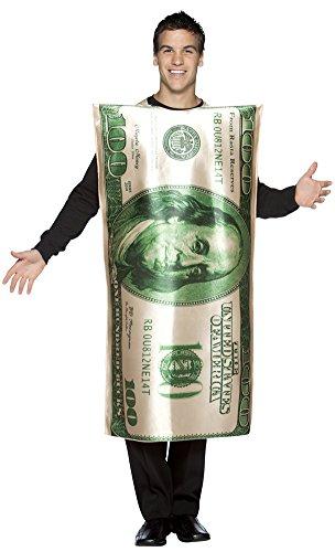 BESTPR1CE Mens Halloween Costume- Bill 100 Dollar Adult Costume -