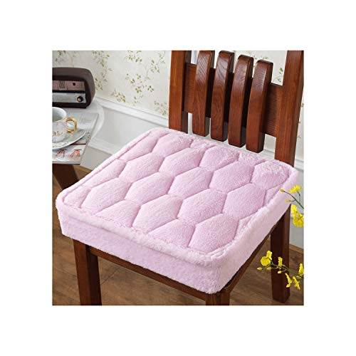 plummei Foam Fluffy Chair Cushion Home Textile Seat Pad Bay Window Cushion 4545Cm Thicken Seat Cushion Computer Chair,Jiangefen,Thicks About 12Cm ()