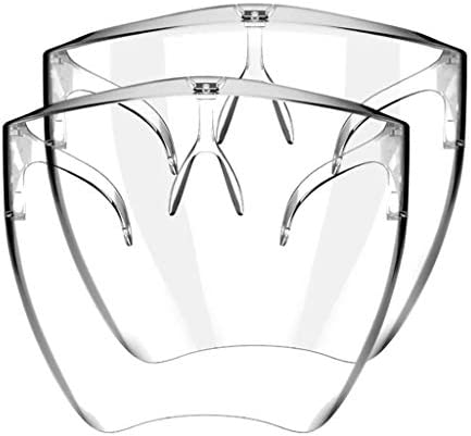Roorsily Transparent Face Covering Unisex Face_Shields Integrated Protective Glasses Goggles, Male and Female Transparent Face Covering, Kitchen Anti-Sputum, Sneeze, and Oil Splash Protection Panels