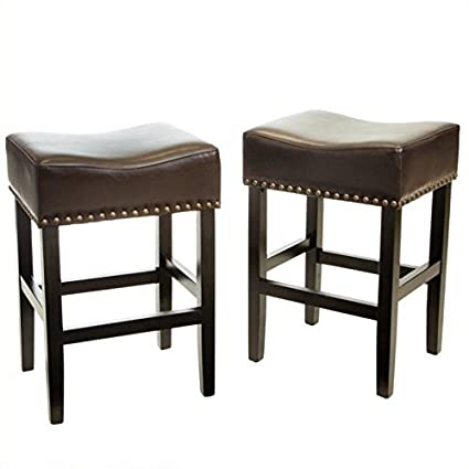 Fine Noble House Trent Home 26 Counter Stool In Brown Set Of 2 Evergreenethics Interior Chair Design Evergreenethicsorg