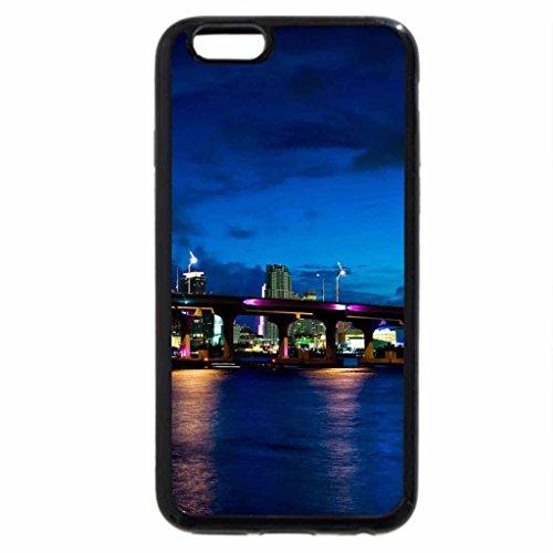 iPhone 6S / iPhone 6 Case (Black) miami bridges at night