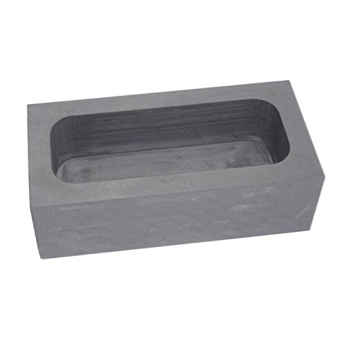High Purity Refining Graphite Casting Melting Ingot Mold for Gold Silver Metal (125x60x40mm - for 2.15Kg Gold / 1.1Kg Silver)