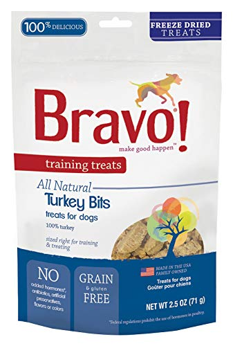 (Bravo! Premium Freeze-Dried Training Treats for Dogs, Turkey 2.5 OZ)