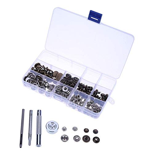 Sewing Tools & Accessory - 50sets 15 Mm Antique Brass Poppers Snap Fasteners Press Stud Button Leather Kit Material Hand Set - Machin Crochet Leather & Hook Snap Craft Tool -