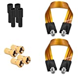 kwmobile Flat Coaxial Window Cables - Set of 2 Satellite Feed-Through F-Plug SAT Coax Connector Feedthrough Jumper Cable for Windows
