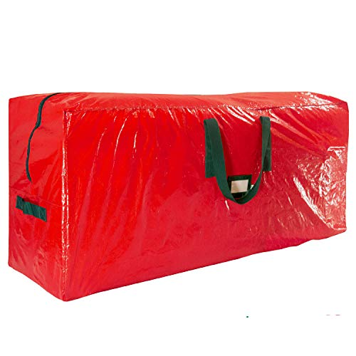 Christmas Holiday Christmas Tree - Premium Red Large Holiday Christmas Tree Storage Bag-Fits Trees Up to 7 Feet Tall-Tear Resistant Zippered Bag with Reinforced Handles -48