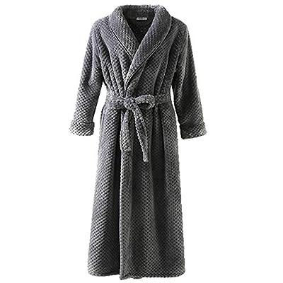 LEINASEN Long Robes for Women - Kimono Luxurious Soft Plush Knit Terry Cloth Spa Bathrobe for Winter