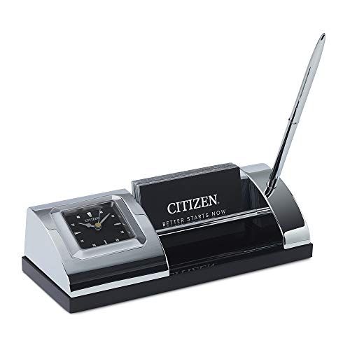 Citizen Silver Tone Desk Clock CC1003