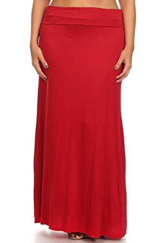 Donna Rosso Da Made Maxi Us Gonna line Plus Solid Sconosciuto A In 1x xR0CqH7w