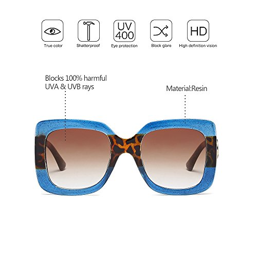 Protección Gafas Nuevo sol de de de 04 Mujer ZEVONDA Estilo ultra Grandes UV400 estilo gB1qp