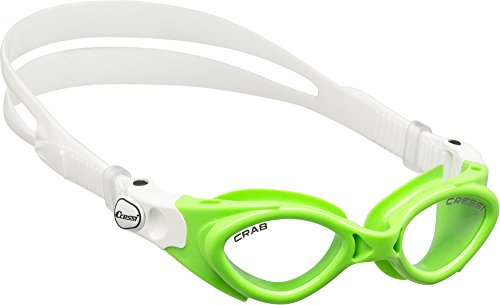 (Cressi Crab, clear/lime, clear lens)