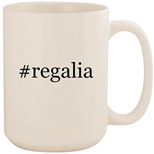 #regalia - White Hashtag 15oz Ceramic Coffee Mug - Hood Lynx Outdoor