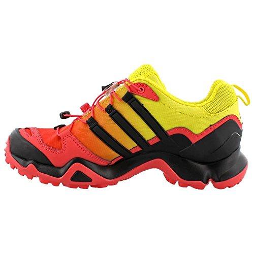 Adidas Terrex al aire libre Swift R Gtx Senderos de zapatos - Negro / explosión púrpura 5 Super Blush/Black/Bright Yellow