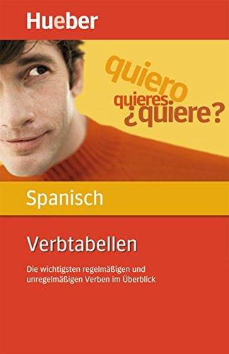 Verbtabellen Spanisch  Die Wichtigsten Regelmäßigen Und Unregelmäßigen Verben Im Überblick   Buch
