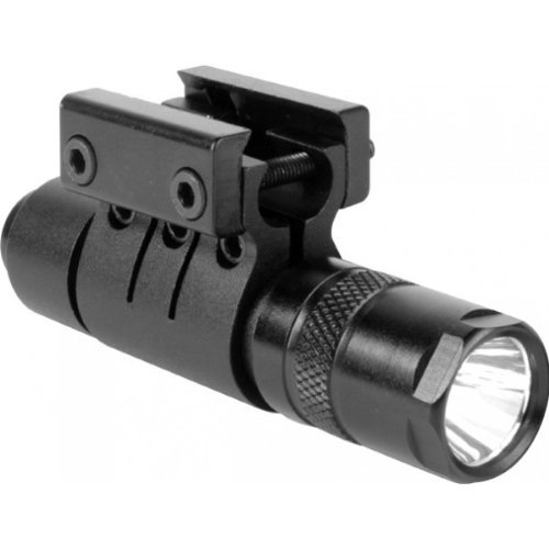 Saiga 12 Guns (Ultimate Arms Gear 90+ Lumens L.E.D Military Flashlight CREE LED Tac - Light Package Kit Set Includes: Weaver-Picatinny Ring Mount, Remote Pressure Switch Cord , Push Button Tail Cap, And Batteries - Saiga 12/.20 Gauge Rifle-Shotgun-Gun Made For 7/8
