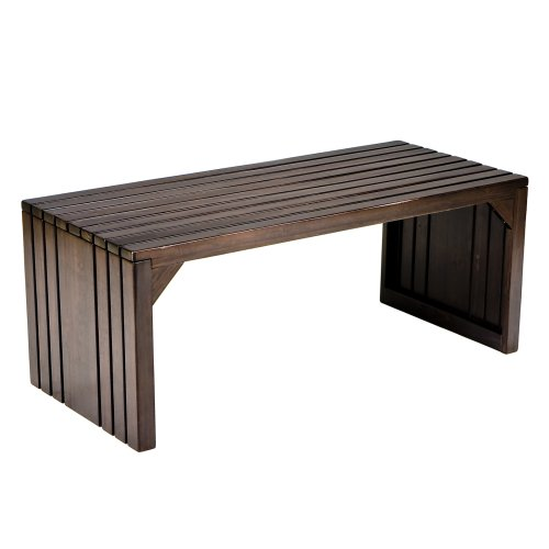 Amazoncom Southern Enterprises Slatted Bench Coffee Table