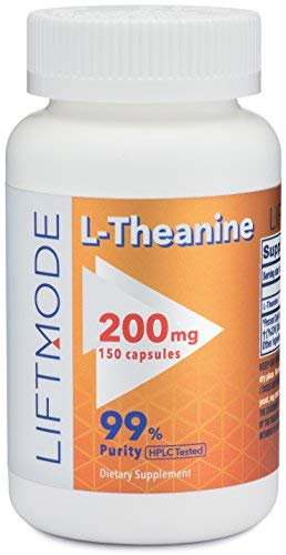 Cheap LiftMode L-Theanine 200mg 150 Capsules | #1 Value for Money #Top Amino Acid Supplement | for Focus, Stress Relief, Weight Loss, Pre Workout |Vegetarian, Vegan, Non-GMO, Gluten Free