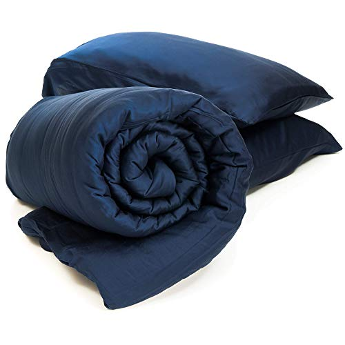 truHugs Bamboo Weighted Blanket - Cool Sensory Blanket for Anxiety w/Silky Breathable 100% Lyocell...
