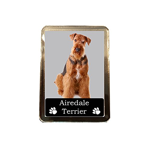 Footie Gifts Airedale Terrier - Collectable Dog Fridge Magnet