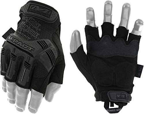 Mechanix Wear - M-Pact Fingerless Covert Tactical Gloves (Large, Black)