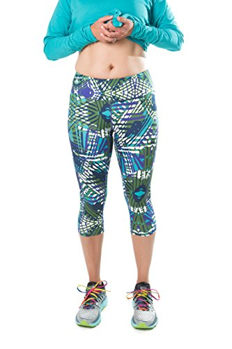 Plus Size Semi-Compression Stretch Workout Capri Pants For Women - Yoga Running Capri Tight Leggings - seen on The Biggest Loser Capri Pant - 3X - from Katie K Active - Gift with Purchase