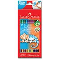 Faber-Castell 5171120612 Bicolor Boya Kalemi, 24 Renk