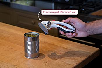 Zyliss Lock N' Lift Can Opener With Lid Lifter Magnet, White 5