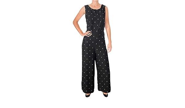 dce349d5ec19 Amazon.com  kensie Womens Evil Eye Dot Jumpsuit KS9U7111  Clothing