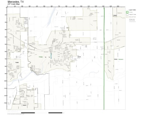ZIP Code Wall Map of Mercedes, TX ZIP Code Map - Mercedes Tx Map