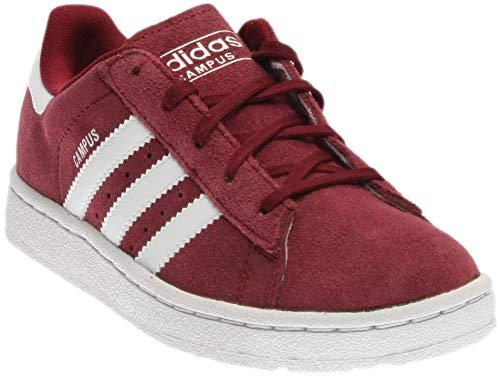 adidas Originals Boys' Campus 2 C Skate Shoe, Collegiate Burgundy White, 13 M US Little Kid ()