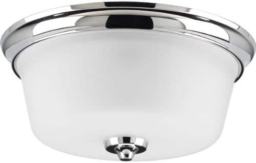 Progress Lighting P3836-15 2-Light Flush Mount Can Mount Up Or Down, Polished Chrome