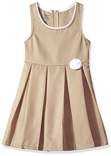 Pleated Rosette (Cherokee Big Girls' Uniform Jumper, Rosette Khaki, 8)
