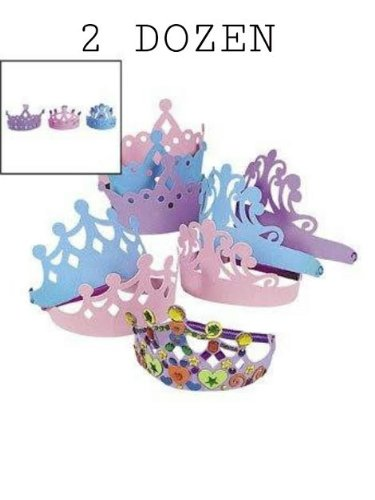 Foam Princess Tiaras Crowns Party Dress-up Role Play Accessory 2 -