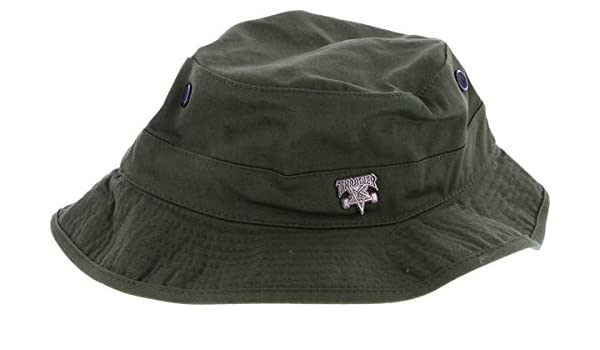 Amazon.com   Thrasher Skategoat Pin Boonie Hat  Olive  S M   Sports    Outdoors d0826559bec