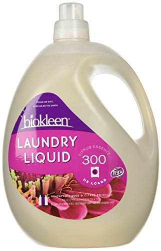 Biokleen Laundry Liquid, Citrus Essence, 150 oz - 300 HE Loads/150 Standard Loads