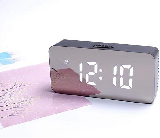 DZXYW Reloj Despertador Reloj de Mesa con Interruptor de 12/24 ...
