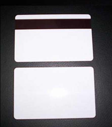 Co Mag Stripe - 500 Photo ID White Credit Card 30Mil Blank PVC Plastic With HiCo Magnetic Stripe