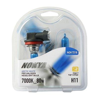 - NOKYA Arctic White Stage2 H11 80w Halogen Headlight Bulbs