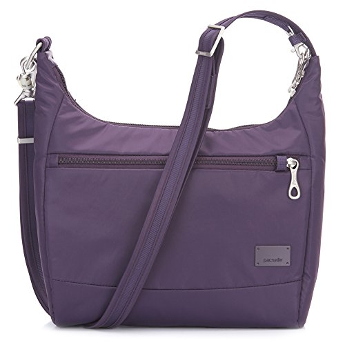 Pacsafe Women's Citysafe CS100 Anti-Theft Travel Handbag Mulberry One Size
