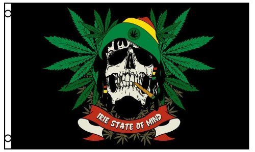 te of Mind Marijuana Flag 3 x 5 Foot Party Banner Pot Weed ()