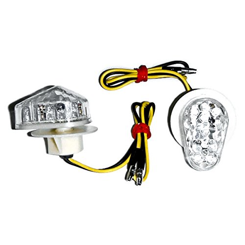 Krator TL-GJ-011-C Turn (Motorcycle 2002-2008 Yamaha LED Flushmount Clear Flush Mount Indicators Signals Fits R1 R6S FZ1 FZ6),