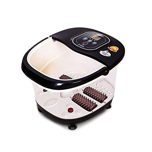 PowMax WW-51 Multifunction Heat Infrared Vibrating Air bubble Electric Foot Massager Foot, SPA Bath Massager Foot Shiatsu for Foot, Ankle, Leg, Calf, Etc.