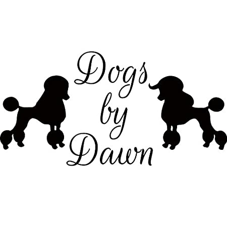 Dog Grooming Salon Sticker Poodle Wall Art Decals Vinyl For Bedroom ...