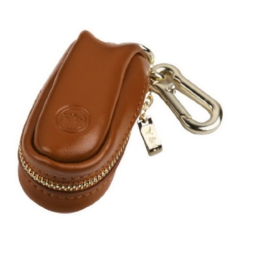 (Y&G YCM050105 Brown Genuine Leather Key Ring Stainless Husband Gifts)
