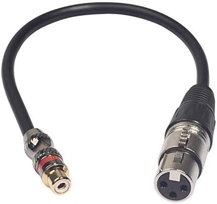 オーディオツール 0.3メートル、シンプルで実用的な:XLRメスオーディオケーブル、長さにTR026K18-03 RCAメス